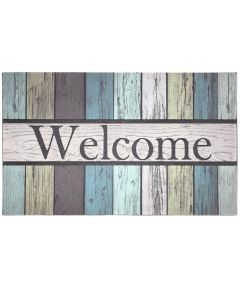 J & M Home Fashions Painted Fence Welcome Doormat 18x30