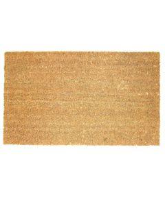 J & M Home Fashions Natural Plain Vinyl Back Coco Doormat 18x30