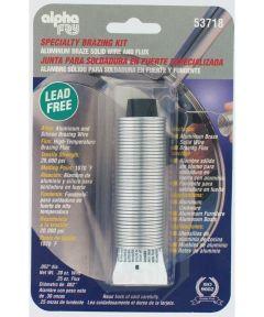 Lead Free Aluminum Wire Braze Solid Wire & Flux Kit