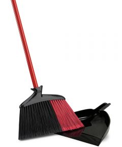 Indoor-Outdoor Angle Broom With Dustpan