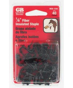 3/16 in. Black Insulated Staples Bell Wire 40 Count