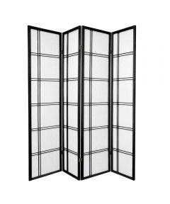 Shoji Screen 4-Panel Black