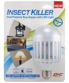 9 Watt Warm White LED Light Bulb Insect Killer Carded