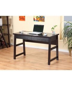 Office Desk with 2 Metal Glide Drawers, Red Cocoa