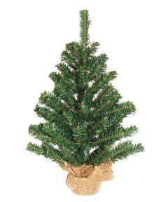 2 ft. Artificial Christmas Tree in Burlap