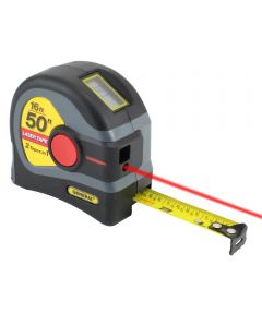 General 16 ft. Tape Measure with 50' Distance Laser Measure