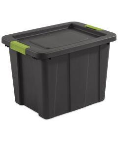Sterilite 18 Gallon Tuff1 Latch Storage Tote, Gray/Soft Fern