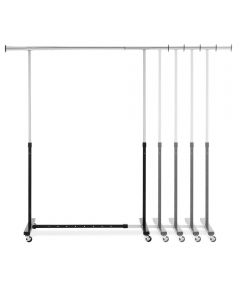 Black & Chrome Heavy Duty Expandable Garment Rack