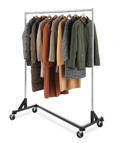 60-1/3 in. x 27 in. x 74-1/2 in. Chrome Commercial Grade Garment
