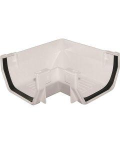 Gutter Corner White Plastic PVC