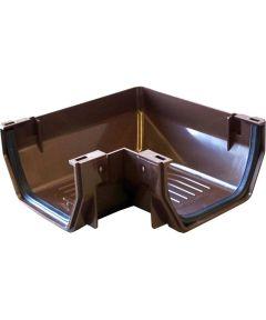 Gutter Corner Brown Plastic PVC