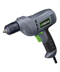 Genesis Corded Drill, 120 V, 4.2 A, 3/8 in Keyless Chuck, 0 - 3200 rpm