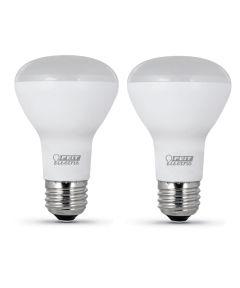 Feit Electric 7.5 Watt E26 R20 Daylight LED Dimmable Light Bulb 2 Pack