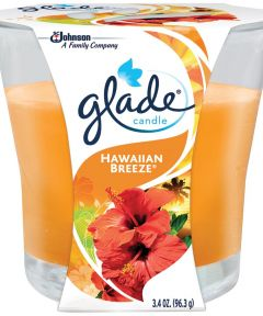 Glade Haw Breeze Candle, 3.4 oz., Glass Container, 28 hr Burning Time