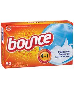 Bounce Fabric Softener Dryer Sheet, Solid, Fresh