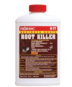 Non-Flammable Root Killer, 32 oz Bottle, Blue Crystal/Powder