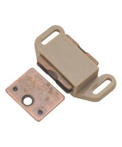 1-5/8 in. Tan Plastic Magnetic Cabinet Door Catch