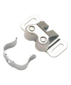 1-5/16 in. Cadmium Double Roller Cabinet Door Catch
