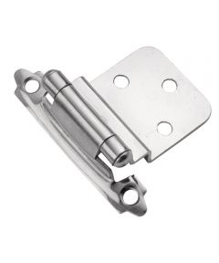 3/8 in. Inset Polished Chrome Surface Self-Closing Hinges 2