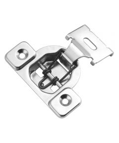 1/2 in. Overlay Polished Nickel 1-Piece Concealed Face Frame