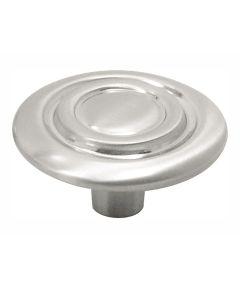 1-1/4 in. Round Satin Nickel Cavalier Cabinet Knob