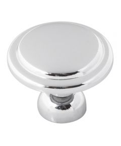 1-3/8 in. Round Polished Chrome Conquest Cabinet Knob