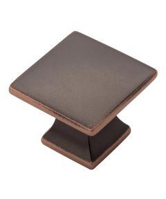 1-1/4 in. Square Oil Rubbed Bronze Studio Cabinet Knob