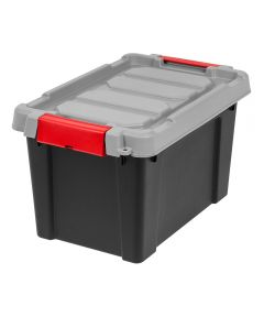 Lockable Store-It-All Tote Organizer, 5 Gallons, Black