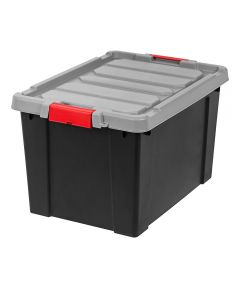 Lockable Store-It-All Tote Organizer, 19 Gallons, Black