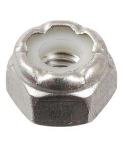 18-8 Stainless Steel Nylon Insert SAE Fine Stop Nut #10-32