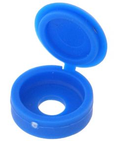 Blue Hinged Screw Cover (for #8 & #10 Screws)