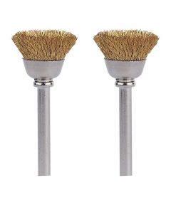 1/2 in. Brass Brushes 2 Pack