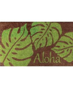 Aloha Welcome Mat, Monstera