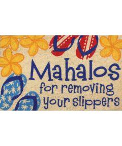 Aloha Welcome Mat, Mahalo & Slippers