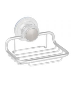 Metro Aluminum Turn-N-Lock Suction Soap Dish, Silver