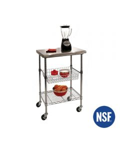 Stainless Steel Kitchen Work Table Cart - 24x20x36