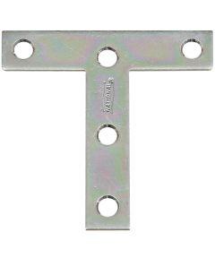 T Plate, Steel, 3 x 3 Inch Zinc, Bulk