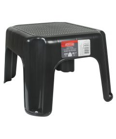 12.25 in. x 10 in. x 7.12 in. Small Black Step Stool
