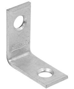 Corner Brace, Steel, 1 x 1/2 Inch Zinc