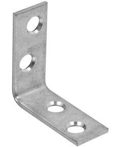 Corner Brace, Steel, 1.5 x 5/8 Inch, Zinch Plated