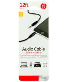 12 ft. 3.5 Mm Auxiliary Audio Cable
