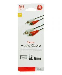 6 ft. Red/White Rca Audio Cable