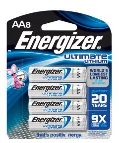 Energizer AA Lithium Battery, 8 Pack
