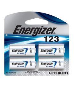 Energizer 123 3V Lithium Photo Battery, 4 Pack