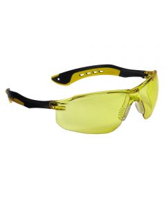 3M Amber Flat Temple Safety Glasses