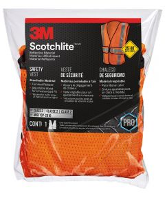 3M Fluorescent Orange Hi-Viz Scotchlite™ Construction Safety Vest