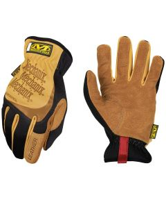 Medium Black/Brown Leather FastFit Work Gloves