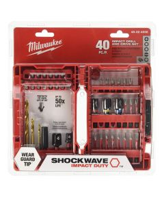 Milwaukee SHOCKWAVE 40 Piece Impact Duty Drill & Drive Bit Set