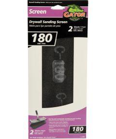 Gator 180 Grit Fine Drywall Sanding Screen, 11-1/4 in. x 4-1/4 in., 2 Pack
