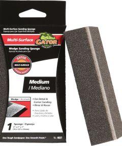 Gator Medium Grit Wedge Sanding Sponge, 5 in. x 3 in. x 1 in.